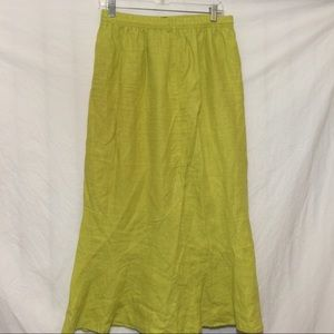 DORMAN 💚 skirt maxi linens women's medium